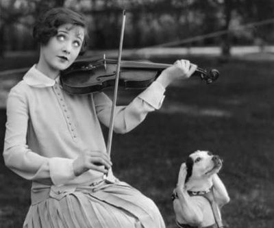 I may not like the way you play that violin, baby, but I sure can sit with you while you play